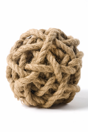 ball of knotted string